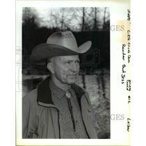 11991 Press Photo Rancher Bud Jess