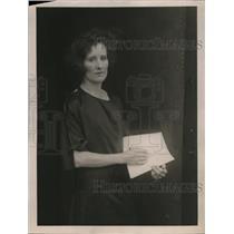 1922 Press Photo Mrs Anna Patch Pres Morningside Girls Club