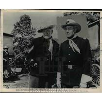 1956 Press Photo Randolph Scott and Harry Carey Jr. star in Seventh Cavalry