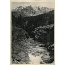 1923 Press Photo Pass Creek in Waterton Lakes National Park in Canadian rockies