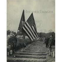 1923 Press Photo Arlington National Cemetery burial of Navy & Marines