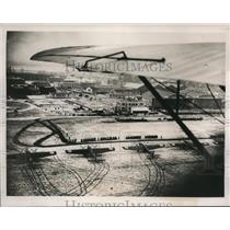 1937 Press Photo An air view of the scene at Le Bourget during the ceremonies