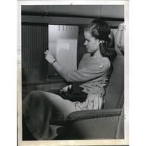 1944 Press Photo Liberator Liner, plane interior view