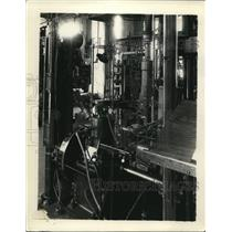 1932 Press Photo US Bureau of Stands testing of an engine