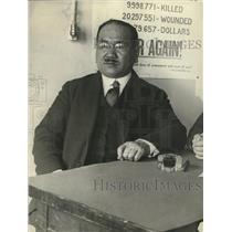 1923 Press Photo I Kawakami Toyko Japan newsman in Wash DC