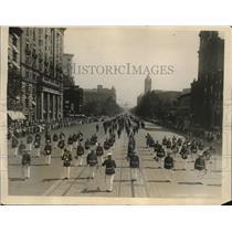 1926 Press Photo Firemen Parade on Pennsylvania Avenue, Washington D.C.