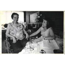 1989 Press Photo Laura Dahman,cancer victim,Turlte Creek, Pa.care by Leah George
