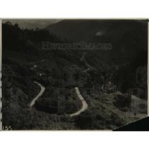 1920 Press Photo Loop on Government Built Road to Baquio in Philippines