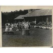 1928 Press Photo Girl Scout Training at Nottingham Fair