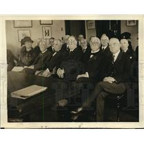 1924 Press Photo American Red Cross meeting in DC Boardman,Smith,Gray