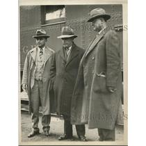 1926 Press Photo Walter Buscaclug & JK Fronk & Sheriff Awrm Trager