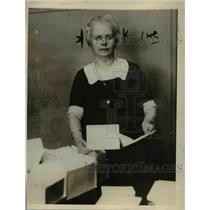 1927 Press Photo of Mrs. Florence Knapp