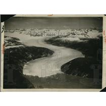 1926 Press Photo Aerial View of Gigantic Glacier