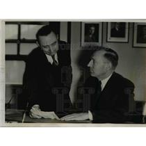 1937 Press Photo Republic Steel Company Of South, Frank Lauerman, James Hyland