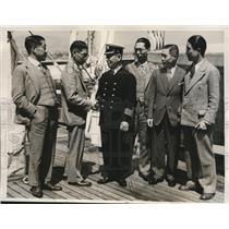 1932 Press Photo Japan newsmen Riskichi Kita, H Manaka,Lt Matsuo,S Yanada,