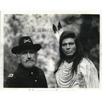 1975 Press Photo James Whitmore & Ned Romero in I Will Fight No More Forever