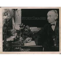 1922 Press Photo Telegrapher / Former Mayor J.C. Ward