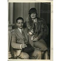 1919 Press Photo Marie Kryl with fiance Spiro Hadji-Kyriaikos