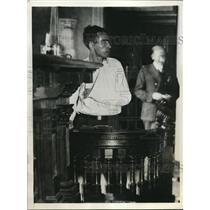 1932 Press Photo John Parks,Secretary of the Unemployed Councils in Philadelphia