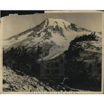 1924 Press Photo View overlooking Paradise Valley and Nisqually Glacier