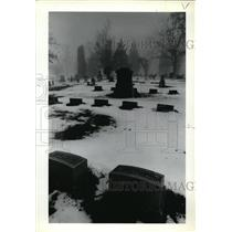 1978 Press Photo Pioneer Cemetery, Manager Ruth Croft - ora39333