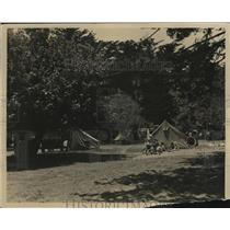 1924 Press Photo Camping at California Auto Camp Park