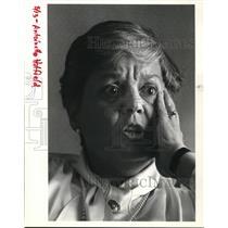 1984 Press Photo Antoinette Hatfield Hilton hotel Interview - ora31646