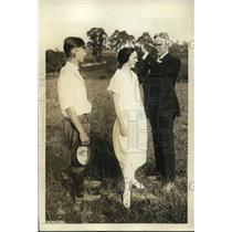 1923 Press Photo Md Gov Albert Ritchie,Addie Burke Queen of love,John Marsell