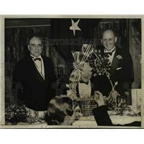 1936 Press Photo of the Jackson Day Dinner L-R J. Bruce Kraemer, Vice President