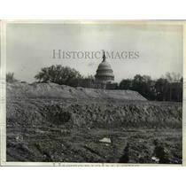 1935 Press Photo of dirt for the Capitol building in Washington D.C.
