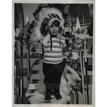 1955 Press Photo Benny Bearskin