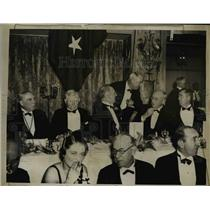 1936 Press Photo of Jackson Day Dinner in Washington D.C.