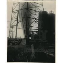 1930 Press Photo Oil well at Oklahoma City