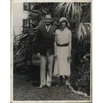 1932 Press Photo Mr and Mrs JK Crimmons of New York in Bermuda