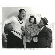 1940 Press Photo Baer, Audrey Christie and Sid Silvers