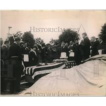 1920 Press Photo World War I Sailor's Funeral, Arlington National Cemetery
