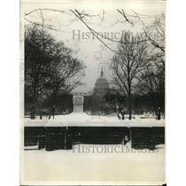 1923 Press Photo Mead Memorial, Botanic Gardens, Washington DC Capitol Building