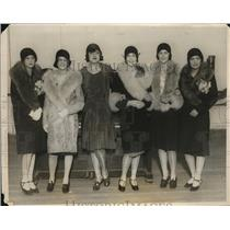 1928 Press Photo Members of Debutante committee for Southern Women's Educational