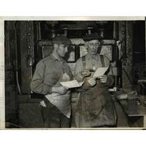 1937 Press Photo Anthony Flaisaan and Joseph Giannatio