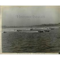 1929 Press Photo Outboard motorboat race at Red Bank NJ won by WB Tuck