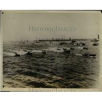1927 Press Photo Start of Hydroplane race at Baltimore Md