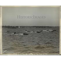 1927 Press Photo 3 mile outboard motorboat race won by C Cooper