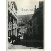 1928 Press Photo Calle Ayacucho, La Paz Bolive