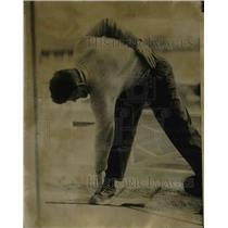 1923 Press Photo Man Stretching