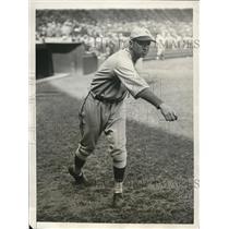 1928 Press Photo Tiny Chaplin, pitcher for New York Giants
