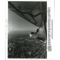 1993 Press Photo Aerial view of south side of Los Angeles