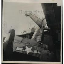 1945 Press Photo Escort Carrier