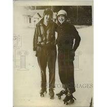1926 Press Photo Ethel Bessey, Billy Keyes Roller Skate 477 Miles, Seattle