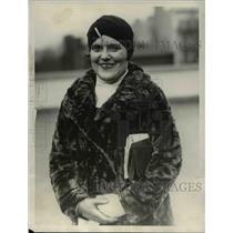 1928 Press Photo Miss Mildred Johnson