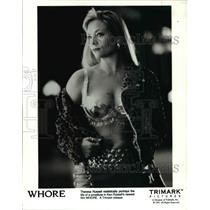 """1991 Press Photo Theresa Russell in """"Whore"""" - cvp45874"""